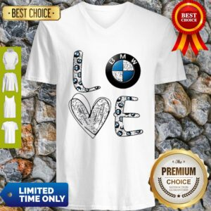 Awesome Heart Love BMW Car V-neck