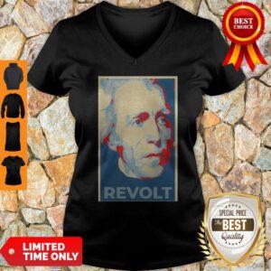 Perfect Andrew Jackson Revolt Art V-neck