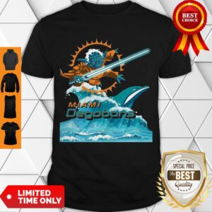Cute Star Wars Yoda Miami Dolphins Degobons Shirt