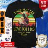Good Darth Vader And Baby Yoda Best Dad Love You I Do Love Olivia Vintage Shirt