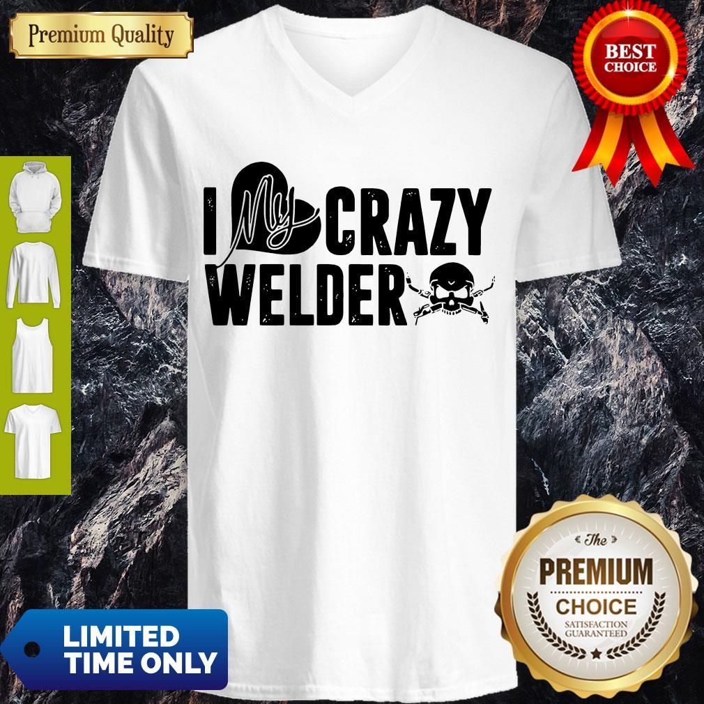 Good Skull I My Crazy Welder Heart V-neck