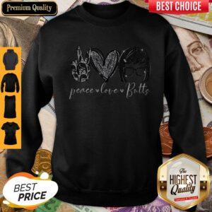 Good Tina Belcher Peace Love Butts Sweatshirt