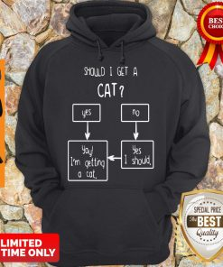 Official Should I Get A Cat Yes Or No Hoodie
