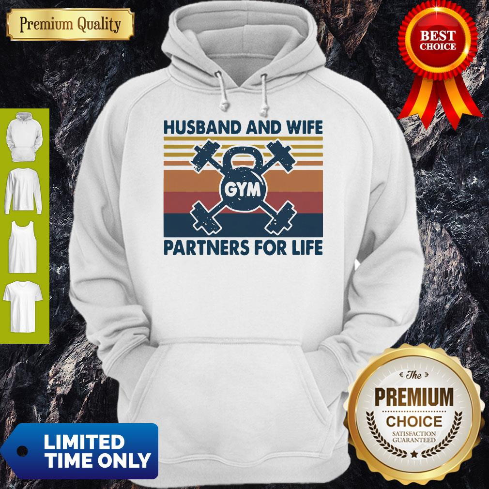 Gym Husband And Wife Partners For Life Vintage Hoodie