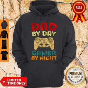 Official Family Dad By Day Gamer By Night Hoodie
