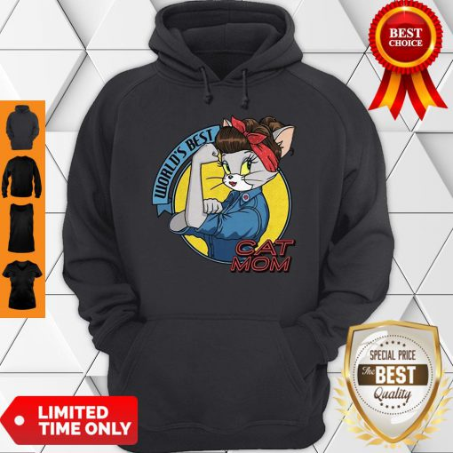 Official World's Best Cat Mom Strong Woman Hoodie