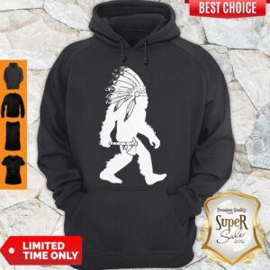 Official Native American Bigfoot Headdress Hoodie