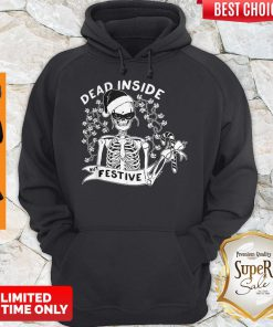 Official Dead Inside But Festive Christmas Hoodie