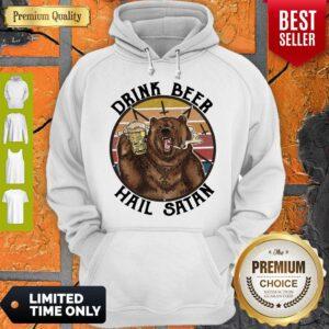 Official The Bear Drink Beer Hail Satan Hoodie