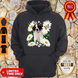 Official St Bernard Daisy Flower Classic Hoodie