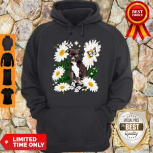 Staffordshire Bull Terrier Dog Daisy Flower Classic Hoodie
