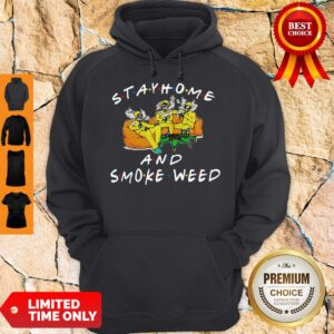 Official Stay Home And Smoke Weed Friends Hoodie