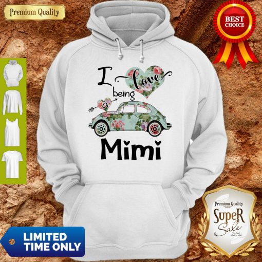 Official Floral Car I Love Being A Mini Hoodie
