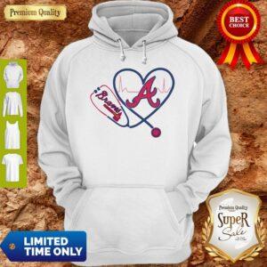 Official Heartbeat Nurse Love Atlanta Braves Hoodie