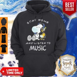 Snoopy Wear Mask Stay Home And Listen To Music Covid 19 Hoodie