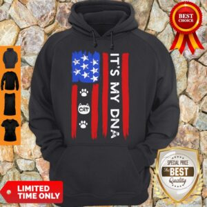 Nice Independence Day Its My Dna Cat Paw Hoodie