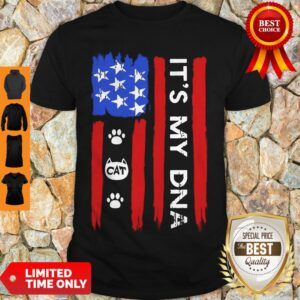 Nice Independence Day Its My Dna Cat Paw Shirt
