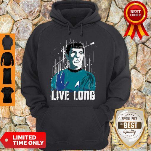 Nice Star Trek Spock Live Long Hoodie