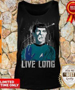 Nice Star Trek Spock Live Long Tank Top