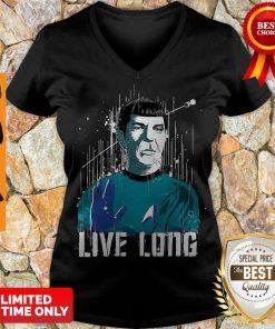 Nice Star Trek Spock Live Long V-neck