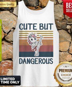 Nice Unicorn Cute But Dangerous Vintage Tank Top