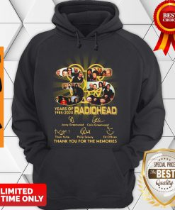 Official Radiohead English Rock Band 35th Years Of 1985-2020 Signature Hoodie