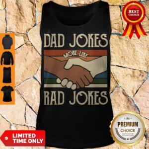 Premium Dad Jokes More Like Rad Jokes Vintage Tank Top