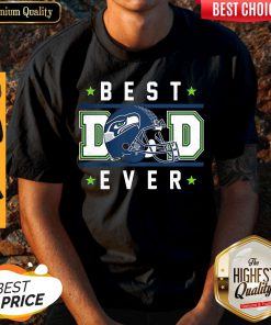 Seattle Seahawks Best Dad Ever Happy Father'S Day Stars Shirt