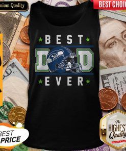 Seattle Seahawks Best Dad Ever Happy Father'S Day Stars Tank Top