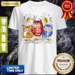 Official Owl And Daisy Flower Shirt
