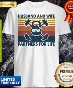 Gym Husband And Wife Partners For Life Vintage Shirt