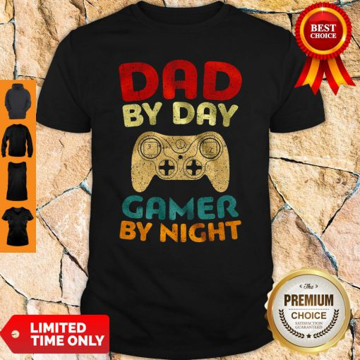 Official Family Dad By Day Gamer By Night Shirt