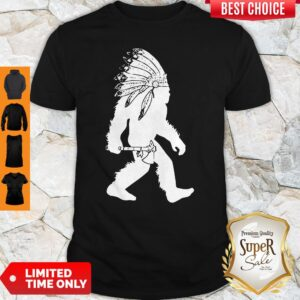 Official Native American Bigfoot Headdress Shirt