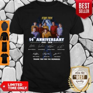 Star Trek 54th Anniversary 1966-2020 All Character Signature Shirt