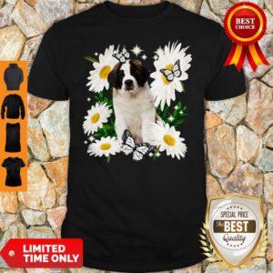 Official St Bernard Daisy Flower Classic Shirt