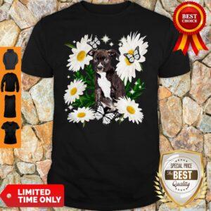 Staffordshire Bull Terrier Dog Daisy Flower Classic Shirt