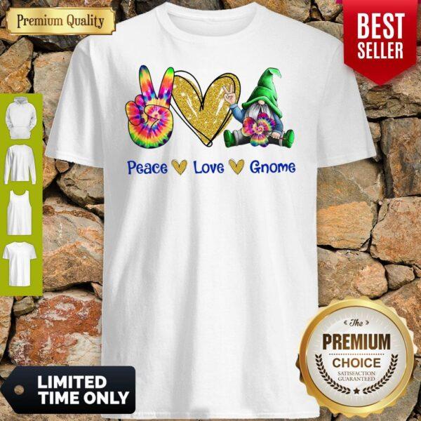 Official Peace Love Gnome Diamond Shirt