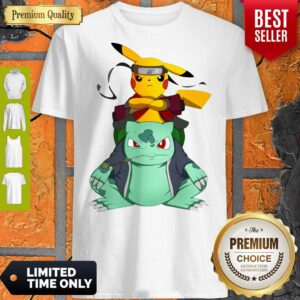 Pokemon Pikachu And Bulbasaur Mashup Naruto Jiraiya Shirt