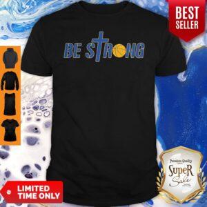 Be Strong Yellow Basketball Shirt