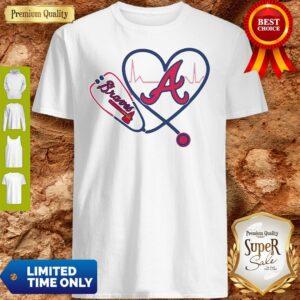 Official Heartbeat Nurse Love Atlanta Braves Shirt