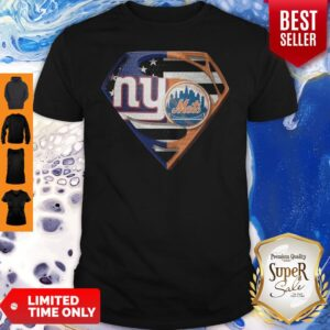 Superhero New York Giants Vs New York Mets Diamond American Flag Shirt