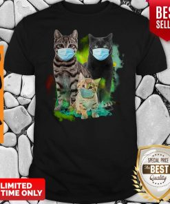 Official Three Cat Wear Face Mask Shirt