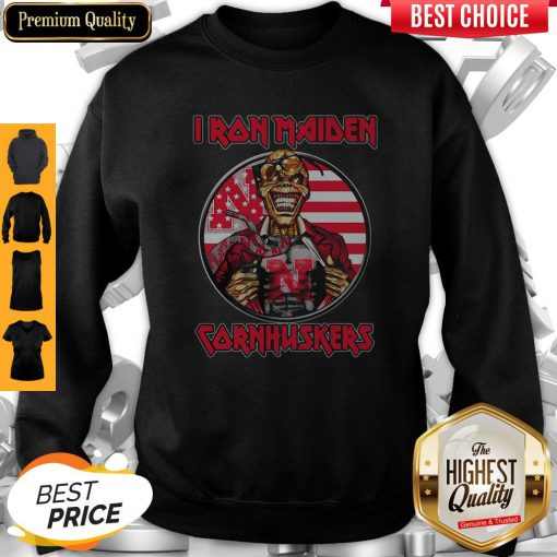 Skull Iron Maiden Nebraska Cornhuskers American Flag Independence Day Sweatshirt