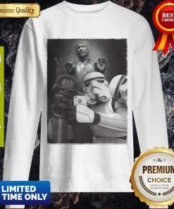 Star Wars Darth Vader And Stormtroopers Selfie Han Solo Frozen Carbonite Sweatshirt