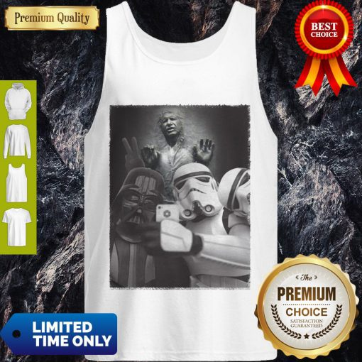 Star Wars Darth Vader And Stormtroopers Selfie Han Solo Frozen Carbonite Tank Top
