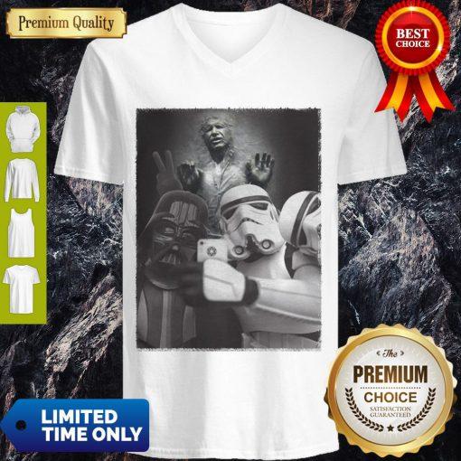 Star Wars Darth Vader And Stormtroopers Selfie Han Solo Frozen Carbonite V-neck