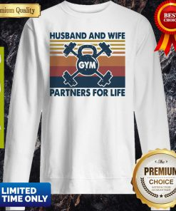 Gym Husband And Wife Partners For Life Vintage Sweatshirt