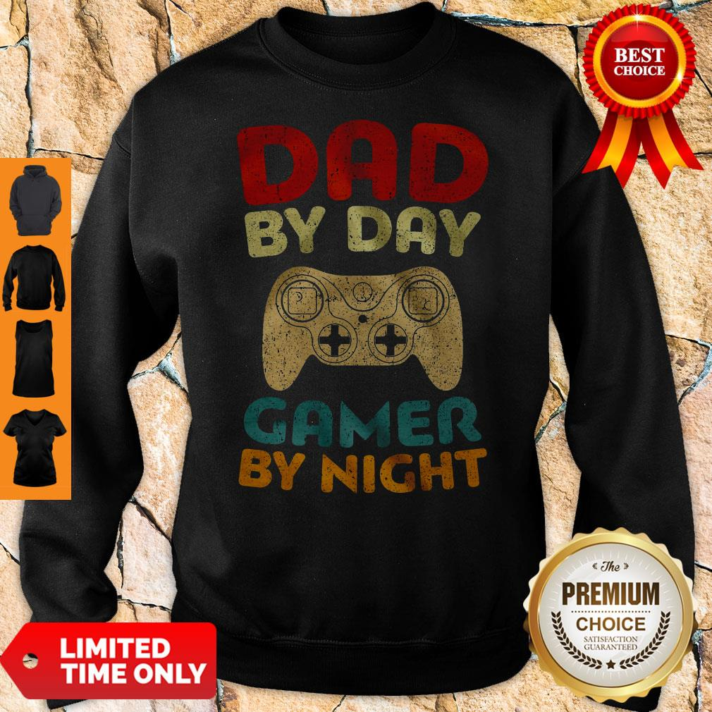 Official Family Dad By Day Gamer By Night Sweatshirt