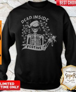 Official Dead Inside But Festive Christmas Sweatshirt