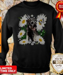 Official Standard Schnauzer Daisy Flower Classic Sweatshirt